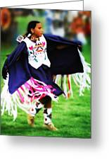 Fancy Shawl Dancer 2 Greeting Card by Terril Heilman