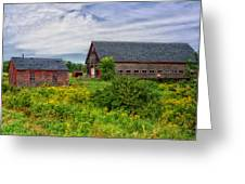 Farm Scene In Rural Maine Greeting Card by Mountain Dreams