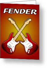 Fender Stratocaster American Standart Red   Greeting Card by Doron Mafdoos