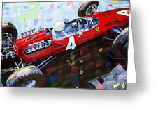 Ferrari 158 F1 1965 Dutch Gp Lorenzo Bondini Greeting Card by Yuriy  Shevchuk