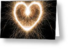 Fiery Heart Greeting Card by Tim Gainey