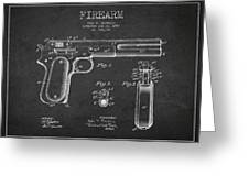 Firearm Patent Drawing from 1897 - Dark Greeting Card by Aged Pixel