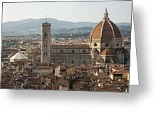 Florence Cathedral And Brunelleschi's Dome Greeting Card by Melany Sarafis
