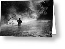 Fly Fishing Greeting Card by Iris Greenwell