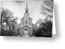 former st josephs catholic church in Forget Saskatchewan Canada Greeting Card by Joe Fox