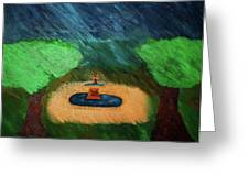 Fountain In The Midst Greeting Card by Bamhs Blair