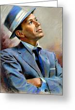 Frank Sinatra Greeting Card by Ylli Haruni