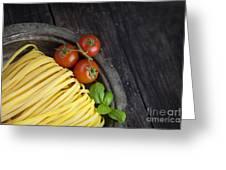 Fresh Pasta Greeting Card by Mythja  Photography