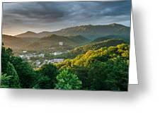 Gatlinburg Tennessee Great Smoky Mountain Sunrise Greeting Card by Mark VanDyke