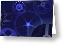 Gears Greeting Card by Michal Boubin