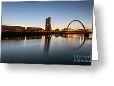Glasgow Clyde Arc  Greeting Card by John Farnan