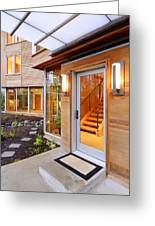 Glass Windows And Doors Of Modern House Greeting Card by Will Austin