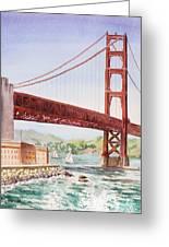 Golden Gate Bridge San Francisco Greeting Card by Irina Sztukowski