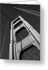 Golen Gate Tower Greeting Card by Darren Patterson