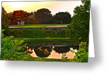 Golf Course Beauty Greeting Card by Frozen in Time Fine Art Photography