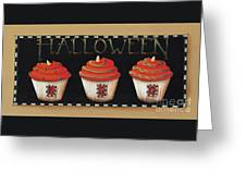 Halloween Cupcakes Greeting Card by Catherine Holman