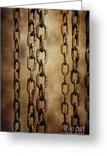 Hanged Chains Greeting Card by Carlos Caetano