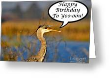 Happy Heron Birthday Card Greeting Card by Al Powell Photography USA