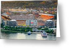 Heinz Field Greeting Card by Emmanuel Panagiotakis