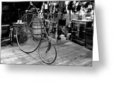 High Wheel 'penny-farthing' Bike Greeting Card by Christine Till