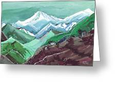 Himalaya 2 Greeting Card by Anil Nene