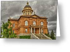 Historic Placer County Courthouse Greeting Card by Jim Thompson