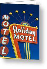 Holiday Motel Greeting Card by Matthew Bamberg