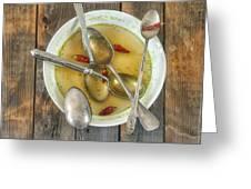 hot soup Greeting Card by Joana Kruse