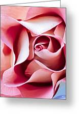 In Depths Of A Rose Greeting Card by Elvira Pinkhas