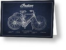 Indian motorcycle Greeting Card by Aged Pixel