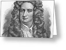 Isaac Newton Greeting Card by Oprea Nicolae