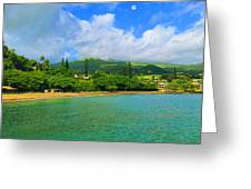 Island Of Maui Greeting Card by Michael Rucker