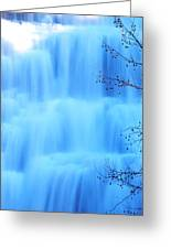Ithaca Water Falls New York  Greeting Card by Paul Ge
