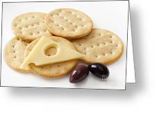 Jarlsberg Cheese And Crackers Greeting Card by Colin and Linda McKie