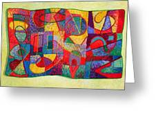 Jigsaw Tapestry Greeting Card by Diane Fine