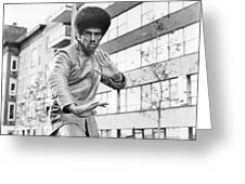 Jim Kelly Greeting Card by Silver Screen