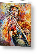 Jimi Hendrix Greeting Card by Leonid Afremov