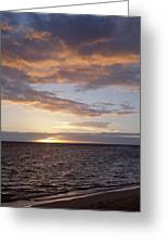 Kailua Sunset Greeting Card by Brandon Tabiolo