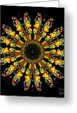 Kaleidoscope Of Blown Glass Greeting Card by Amy Cicconi
