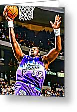 Karl Malone Greeting Card by Florian Rodarte