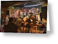 Keri Leigh Singing At Schmitt's Saloon Greeting Card by Dan Friend