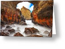 Keyhole Greeting Card by Darren  White