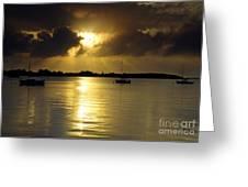 Keys Sunset IIi Greeting Card by Bruce Bain