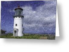 Kilauea Lighthouse Greeting Card by Renee Skiba