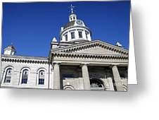 Kingston City Hall Greeting Card by Charline Xia
