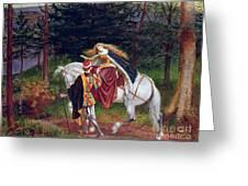 La Belle Dame Sans Merci Greeting Card by Walter Crane