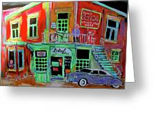 Lachine Bistro Greeting Card by Michael Litvack