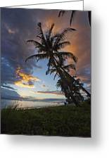 Lahaina Sunset Greeting Card by James Roemmling