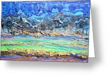 Landscape Layers Greeting Card by Regina Valluzzi