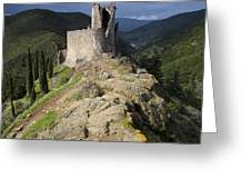Lastours castle Greeting Card by Ruben Vicente
